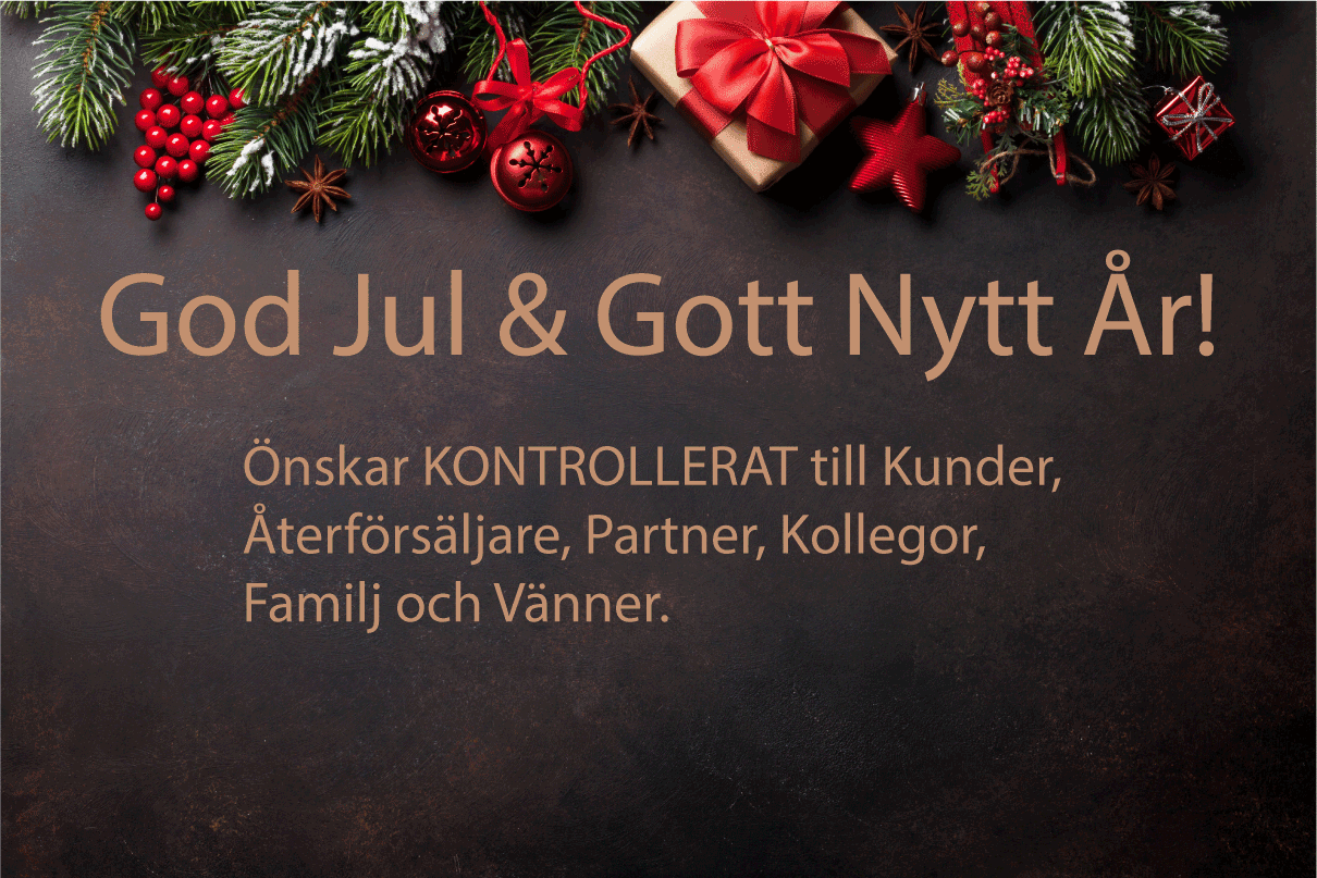 KONTROLLERAT önskar God Jul!