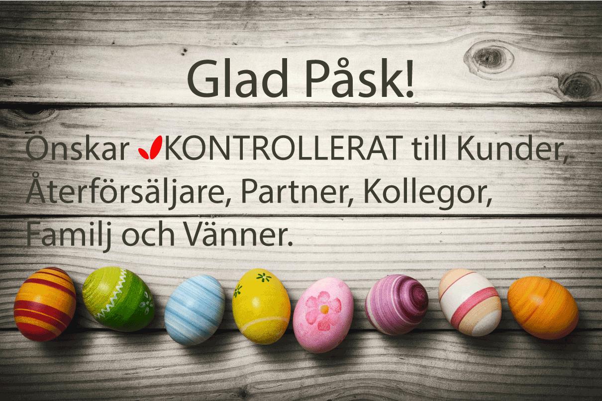 KONTROLLERAT önskar Glad Påsk!